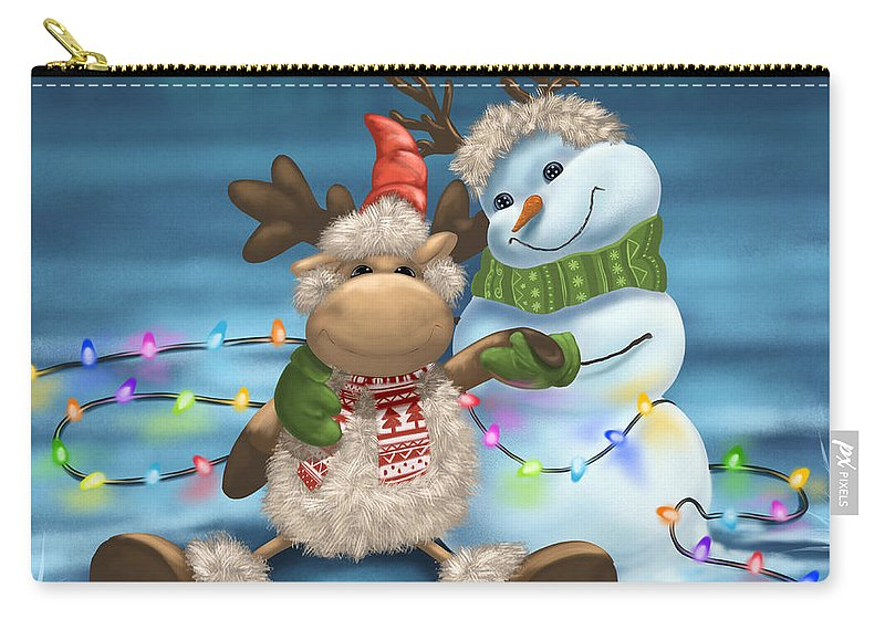 Christmas Carry-all Pouch featuring the painting Finally It's Christmas by Veronica Minozzi