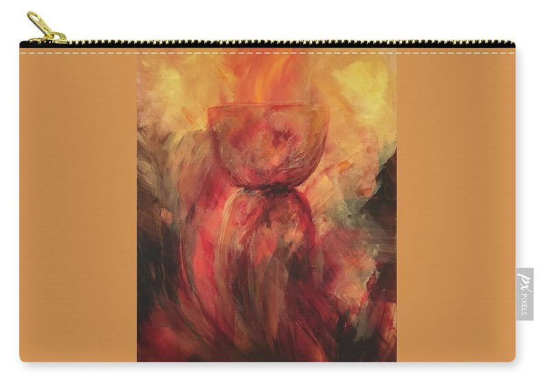 Guam Carry-all Pouch featuring the painting Fire Earth Latte Stone by Michelle Pier