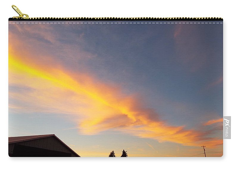 Carry-all Pouch featuring the photograph Fire In The Sky by James Harris
