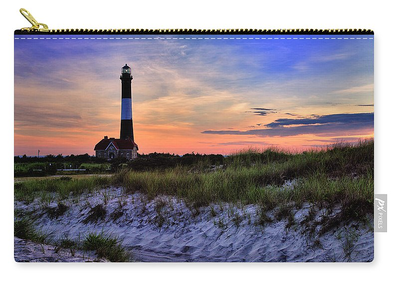 Fire Island Carry-all Pouch featuring the photograph Fire Island Lighthouse by Rick Berk