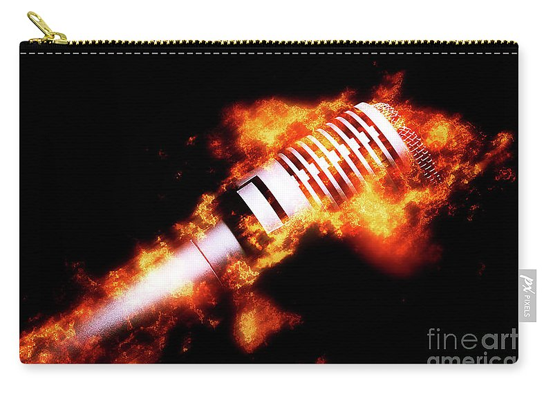Hot Carry-all Pouch featuring the photograph Fire It Up by Jorgo Photography - Wall Art Gallery