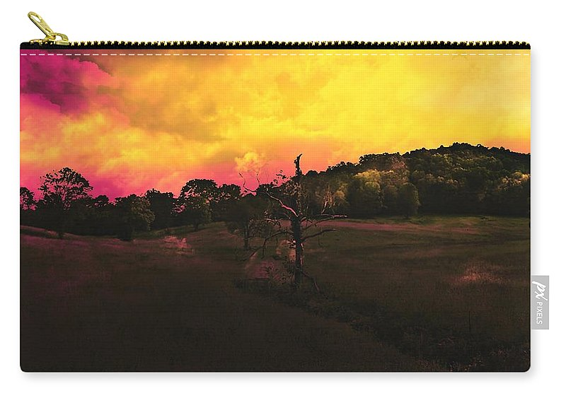 Landscape Carry-all Pouch featuring the digital art Fire by Kyle Shamburg