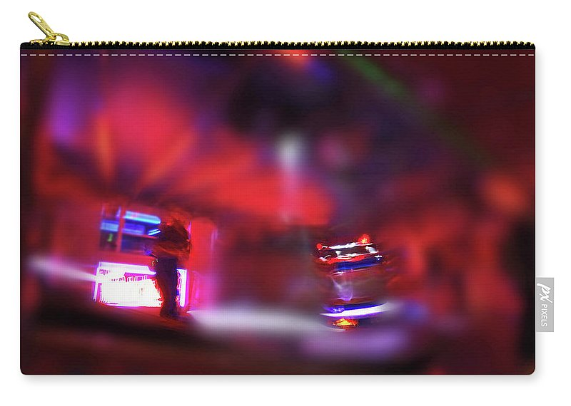 Red Carry-all Pouch featuring the painting Fire Ride by Charles Stuart