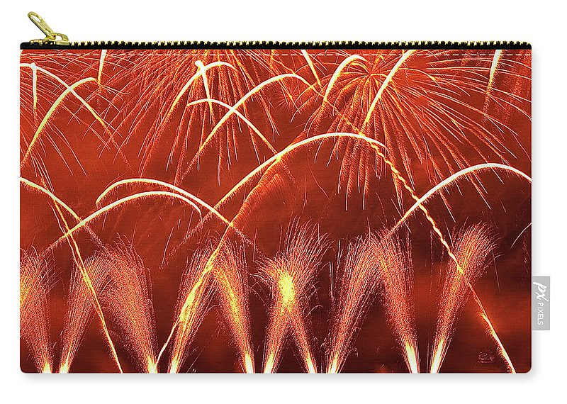 Firework Display Carry-all Pouch featuring the photograph Fireworks Over West Lake, Hangzhou by William Yu Photography