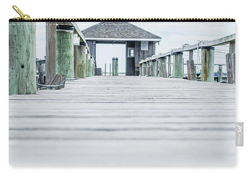 Cape Cod Carry-all Pouch featuring the photograph Fishing Dock Cape Cod by Wendy Fielding
