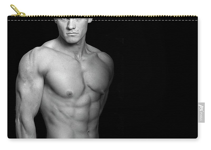 Cool Attitude Carry-all Pouch featuring the photograph Fitness Portrait by Ragnak