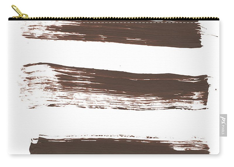 Textured Carry-all Pouch featuring the photograph Five Tan Streaks Of Paint by Kevinruss