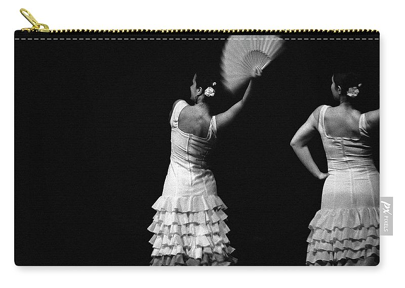 Ballet Dancer Carry-all Pouch featuring the photograph Flamenco Lace Fan by T-immagini