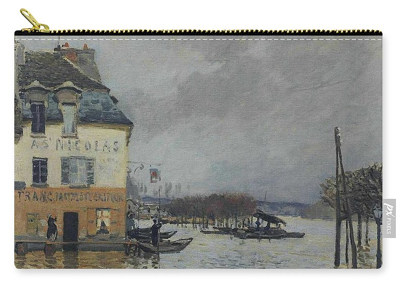 Alfred Sisley Carry-all Pouch featuring the painting Flood At Port-marly, 1876 04 by Alfred Sisley