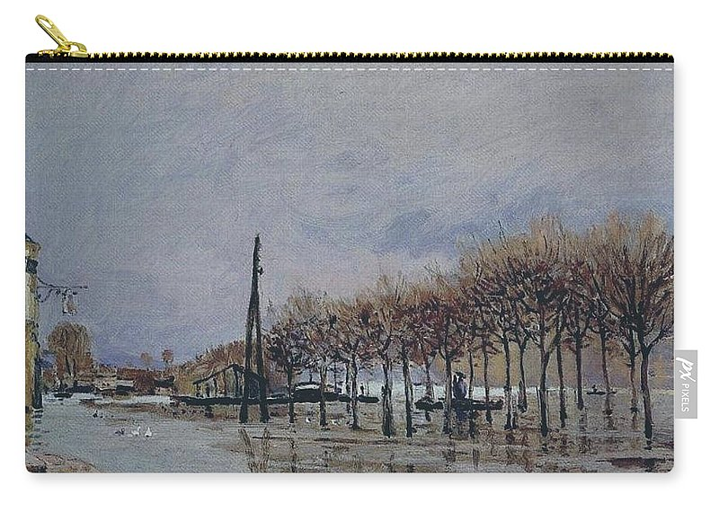 Alfred Sisley Carry-all Pouch featuring the painting Flood At Port-marly, 1878 by Alfred Sisley