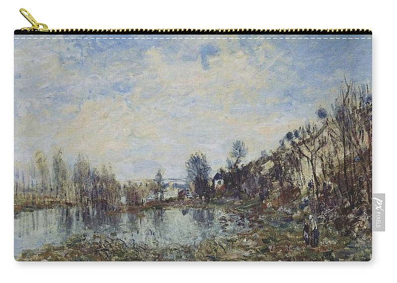 Alfred Sisley Carry-all Pouch featuring the painting Flooded Field by Alfred Sisley