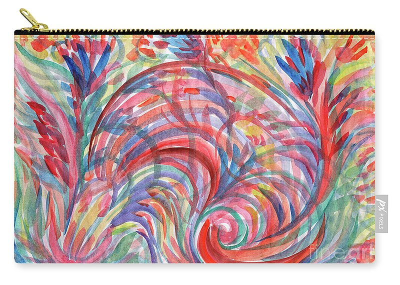 Spring Carry-all Pouch featuring the painting Floral Abstraction by Irina Dobrotsvet