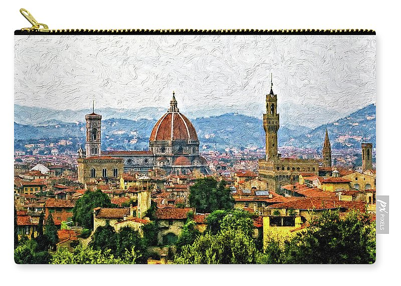 Florence Carry-all Pouch featuring the photograph Florence Impasto by Steve Harrington