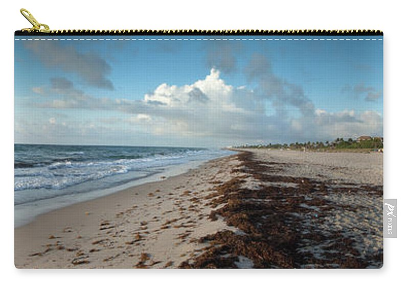 Scenics Carry-all Pouch featuring the photograph Florida Beach With Gentle Waves And by Drnadig