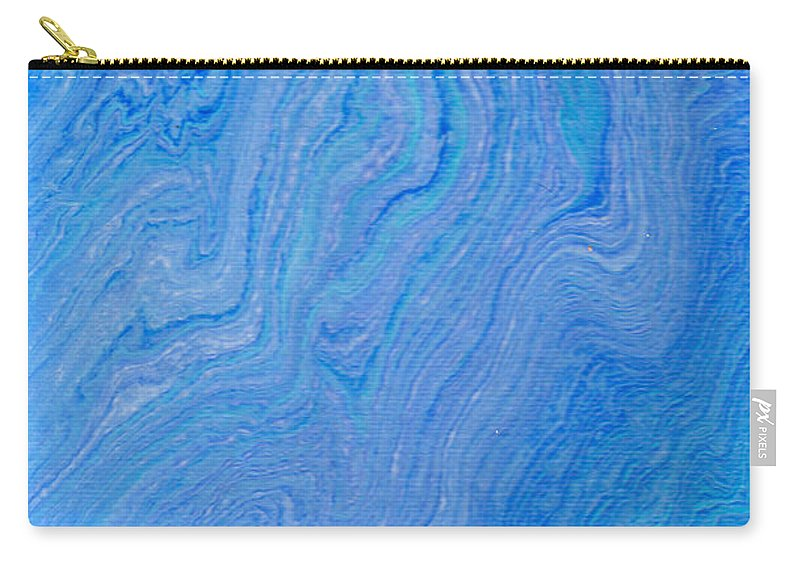 Abstract Art Carry-all Pouch featuring the painting Flow 004 by Nicole Chambers