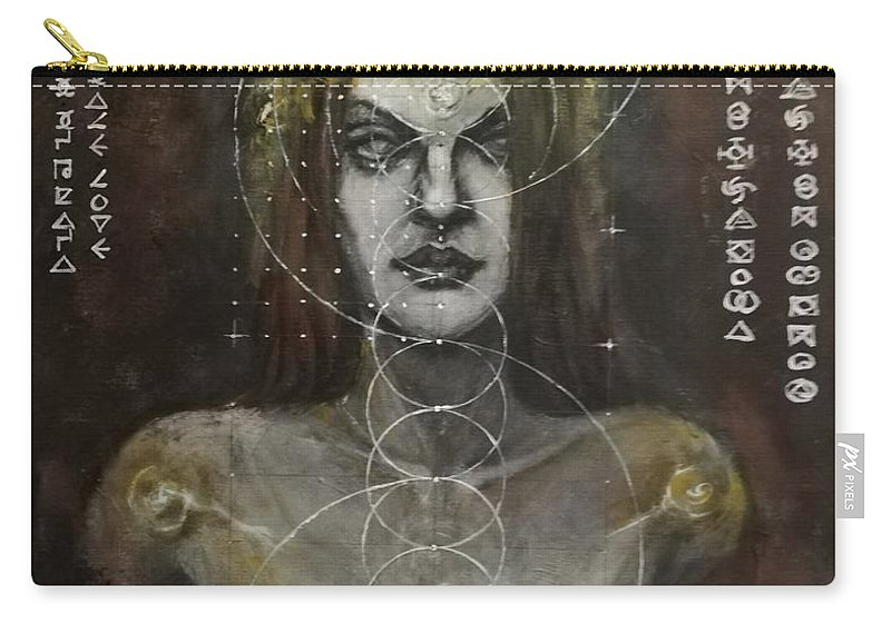 Acrylic Carry-all Pouch featuring the painting Flow by Ted Castor