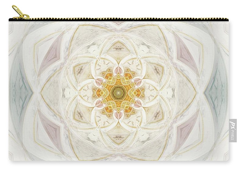 Flower Carry-all Pouch featuring the painting Flower Of Heaven by Esoterica Art Agency
