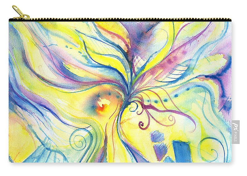 Rectangle Carry-all Pouch featuring the digital art Flower Of The Soul by Stereohype