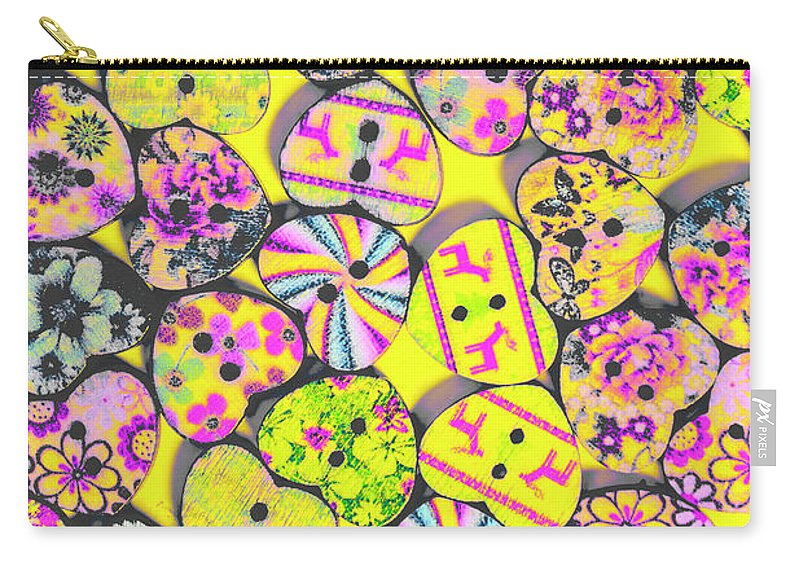 Retro Carry-all Pouch featuring the photograph Flower Power Patterns by Jorgo Photography - Wall Art Gallery