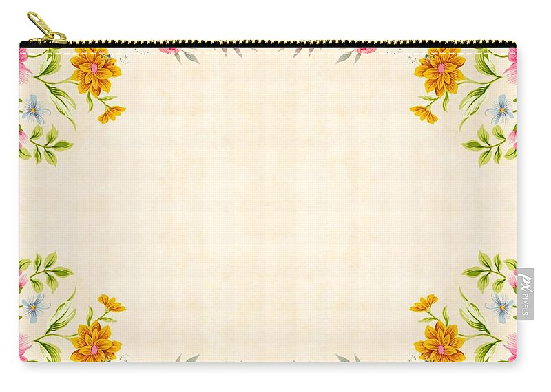 Carry-all Pouch featuring the ceramic art Flower Print by Beena Bamania