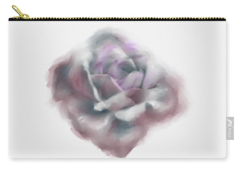 Rose Carry-all Pouch featuring the digital art Flower Study by Crystal Hubbard