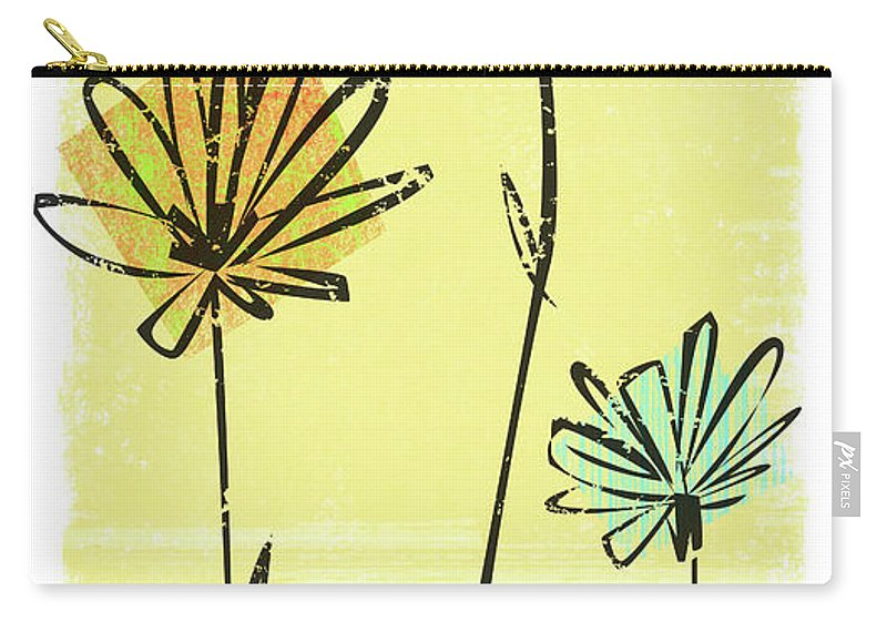 California Carry-all Pouch featuring the digital art Flowers In Springtime by Harry Briggs
