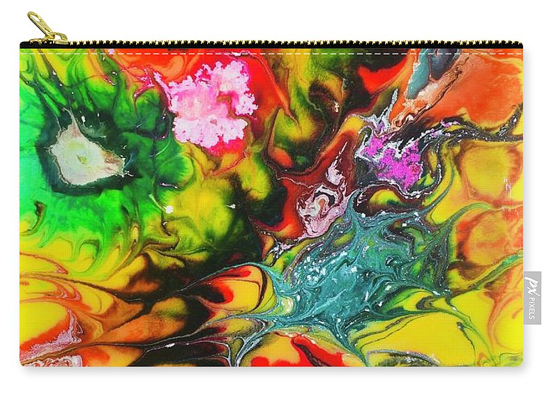 Carry-all Pouch featuring the painting Flowers by Keitha Roth
