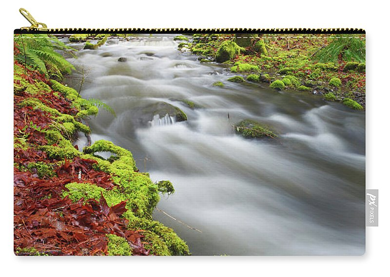 Scenics Carry-all Pouch featuring the photograph Flowing Through Life by Glowingearth