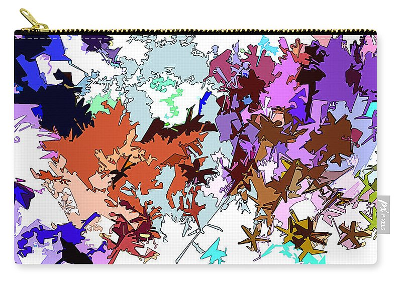 Abstract Carry-all Pouch featuring the digital art Fluttering Vista by Linda Mears
