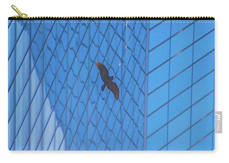 Bird Carry-all Pouch featuring the photograph Flying Abstract by D Davila