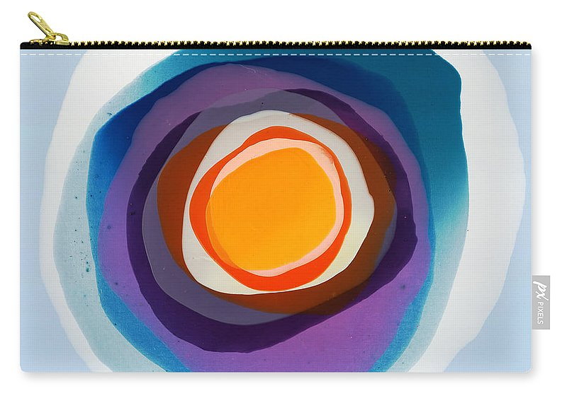 Abstract Carry-all Pouch featuring the painting Focussed by Claire Desjardins
