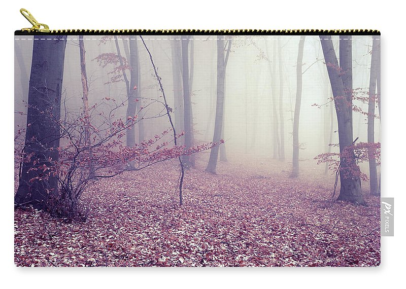 Spooky Carry-all Pouch featuring the photograph Fog by Floriana