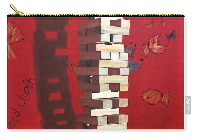 Still Life Carry-all Pouch featuring the painting Food Chain by Daryl Gannon