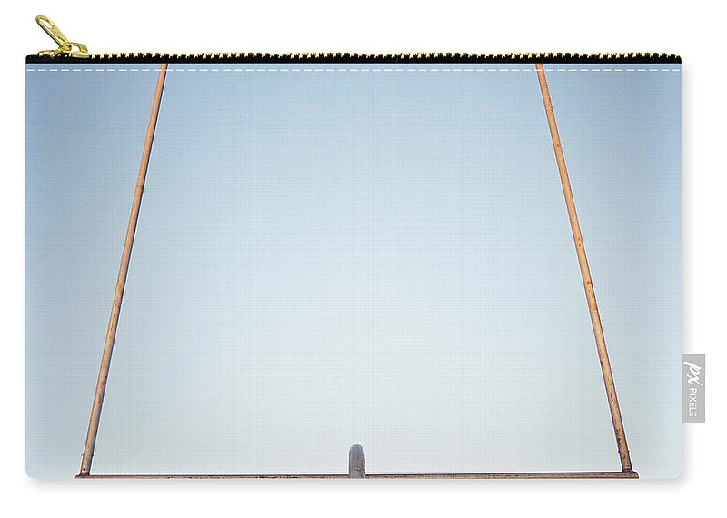 Goal Carry-all Pouch featuring the photograph Football Goal Post by Mike Powell