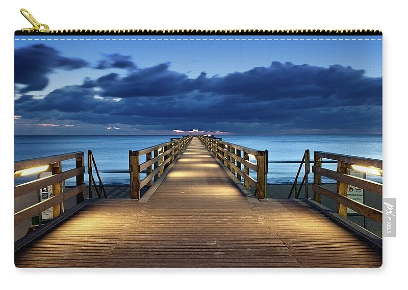 Water's Edge Carry-all Pouch featuring the photograph Footbridge by Bertlmann