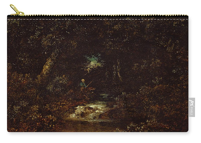 Ralph Albert Blakelock Carry-all Pouch featuring the painting Forest Landscape by Ralph Albert Blakelock