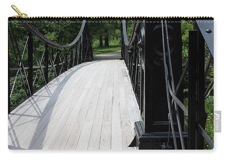 Highland Productions Llc  Darren Dwayne Frazier  Bridge Forest Park  St. Louis  Missouri Carry-all Pouch featuring the photograph Forest Park Walkway 2019 by Darren Dwayne Frazier