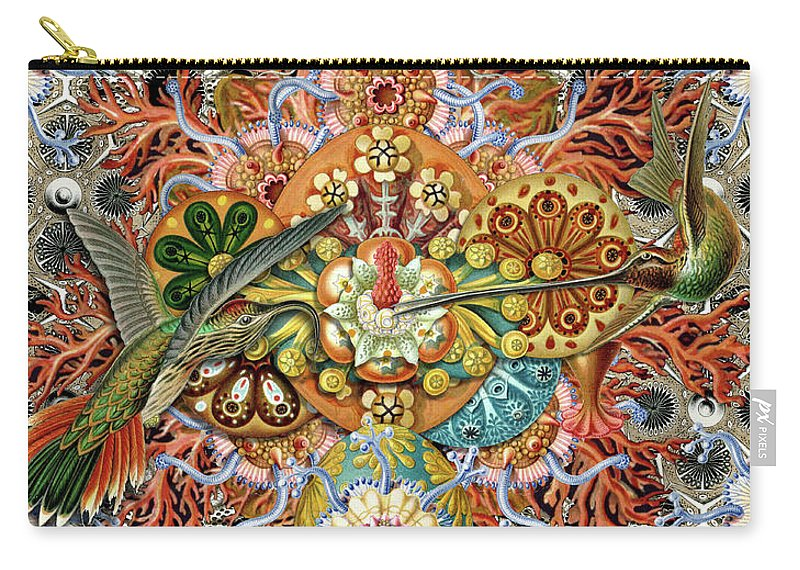 Hummingbird Carry-all Pouch featuring the digital art Forms of Nature #1 by Kenneth Rougeau