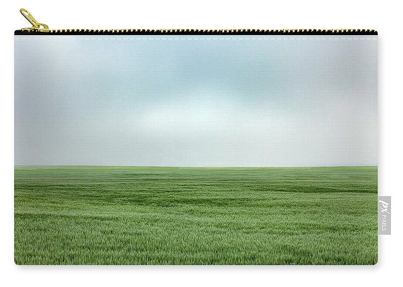 Field Carry-all Pouch featuring the photograph Fort Benton Wheat by Todd Klassy