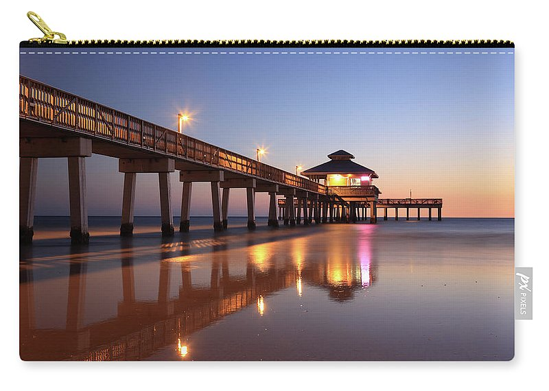 Built Structure Carry-all Pouch featuring the photograph Fort Myers Beach, Florida by Jumper