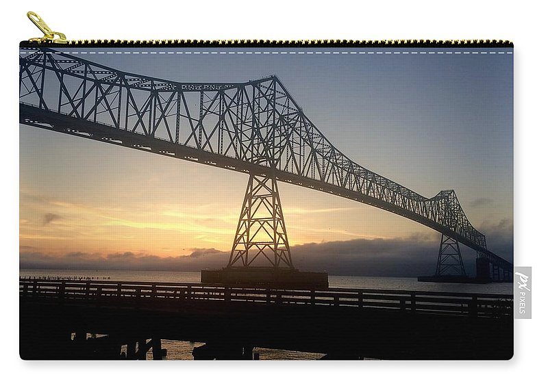 Pacific Ocean Carry-all Pouch featuring the photograph Four Mile Bridge by Dawn Celeste