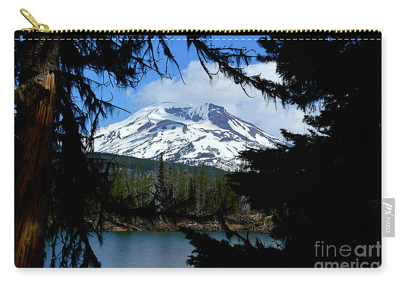 Mountain Carry-all Pouch featuring the photograph Framed - South Sister by Out West Originals