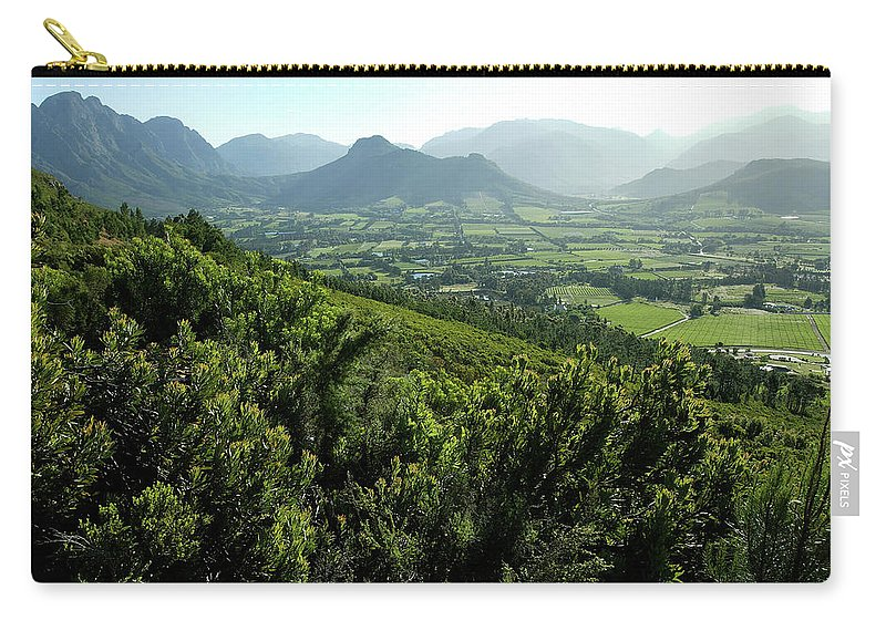 South Africa Carry-all Pouch featuring the photograph Franschhoek Valley by Ruvanboshoff