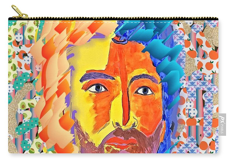 Face Carry-all Pouch featuring the digital art Free Mind by Paola Baroni