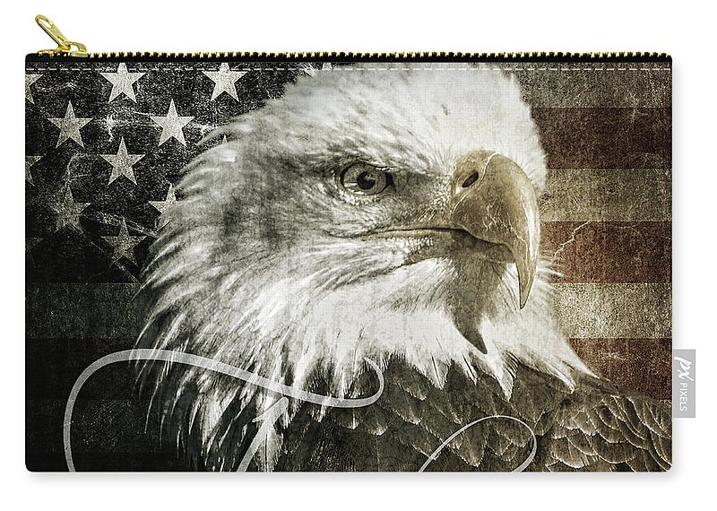 Freedom Carry-all Pouch featuring the digital art Freedom by Anita Hubbard