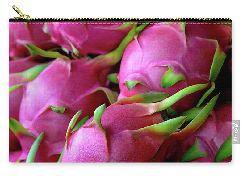 Thailand Carry-all Pouch featuring the photograph Fresh Dragon Fruit For Sale In A Thai by Enviromantic