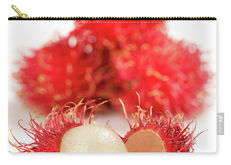 Raw Food Diet Carry-all Pouch featuring the photograph Fresh Thai Rambutans by Enviromantic