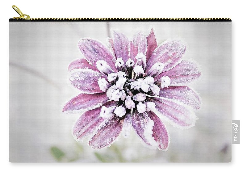 Flower Carry-all Pouch featuring the photograph Frost by Maureen Plitt