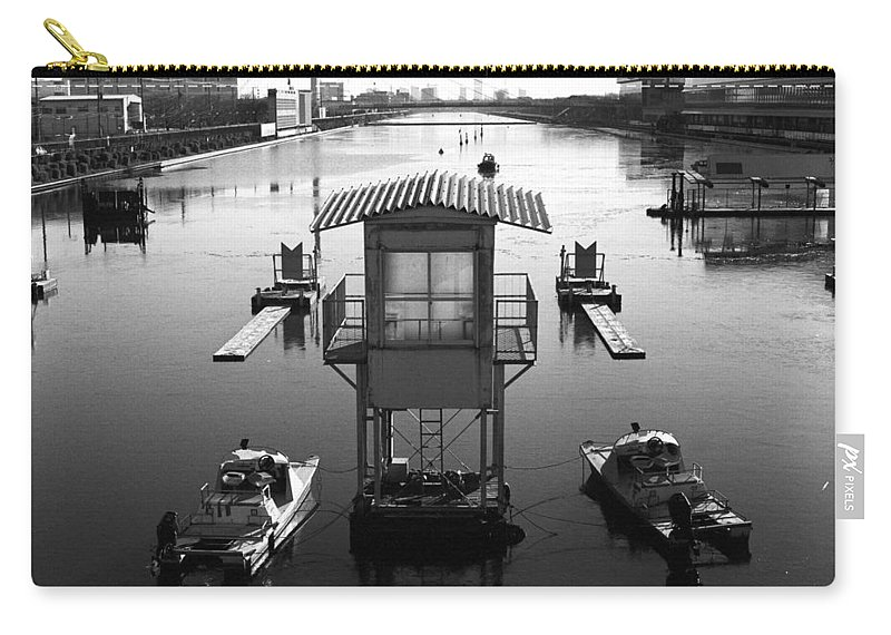 Standing Water Carry-all Pouch featuring the photograph Frozen Boat Course by Huzu1959