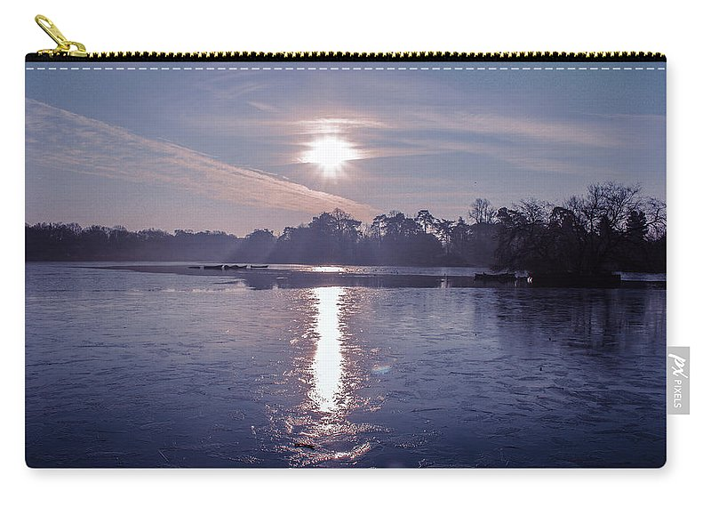 Lake Carry-all Pouch featuring the photograph Frozen by Claire Lowe